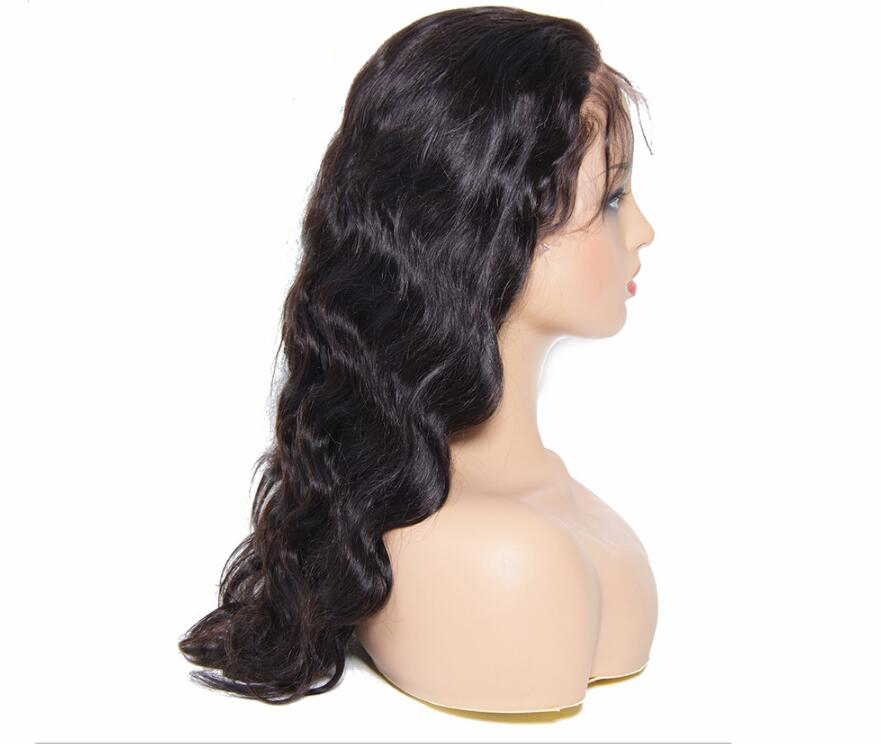 Wavy Brazilian Virgin Human Hair Full Lace Wig With Natural Hairline for Black women