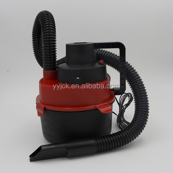 2017 new style useful Portable dc 12 volt Wet &amp Dry Canister Car Vacuum Cleaners Hose Inflation Pump Dc Plug vacuum cleaners