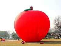 NB-1-AD210 giant inflatable apple advertising red big apple for promotion