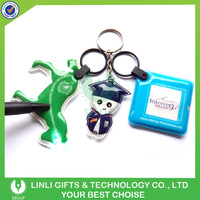 Customized Promotional Key Tag Wholesale Mini PVC LED Keychain, LED Keyring, Flashlight Keyholder