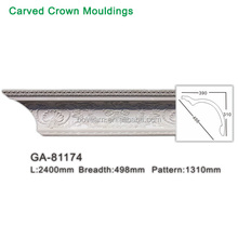 Cheap Polyurethane crown ceiling cornice Pu carving moulding