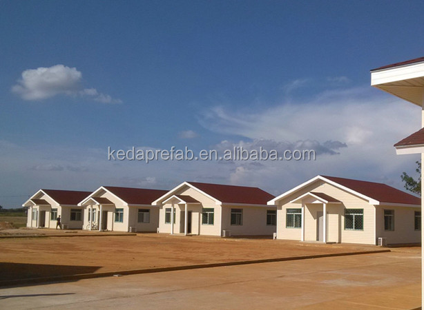 Factory Made Cheap Steel Prefabricated Houses Light Steel Villa