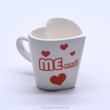 You and Me White Ceramic Cup Personalised Couple Mugs for Valentine Gifts