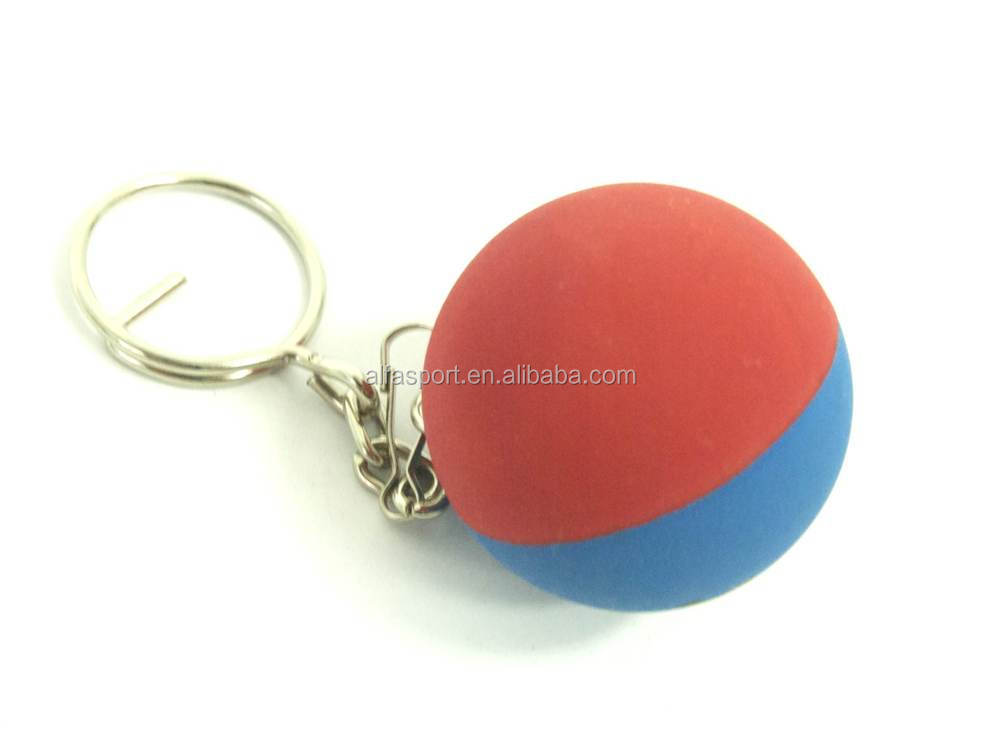 Rubber ball key chain made in Thailand
