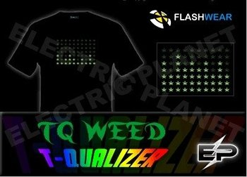 [Super Deal]Wholesale 2009 fashion hot sale T-shirt A32,el t-shirt,led t-shirt