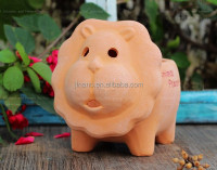 Handmade terracotta crafts sweet lion animal shape flower pot