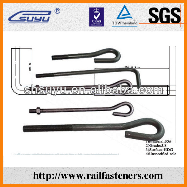 M10 Anchor Bolts for Railway