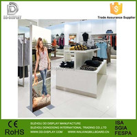 High quality SEG fabric tension photo frame free standing backwall stand exhibition display