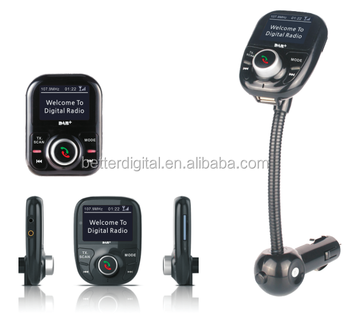 DAB car radio with bluetooth handsfree and RDS and USB SD FM transmitter