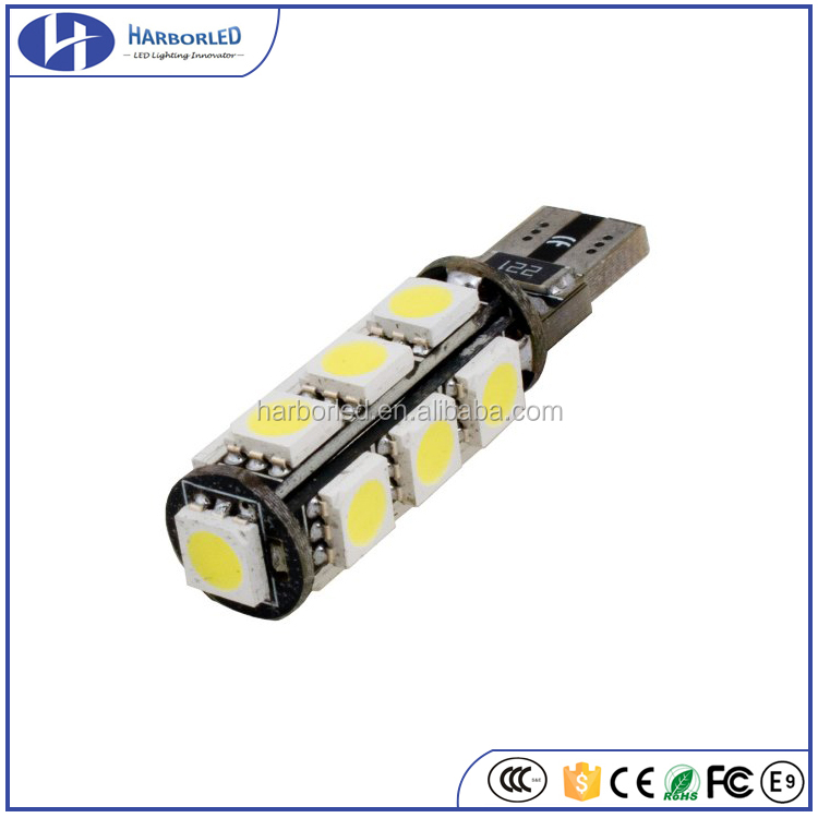 120 Lumens T10 194 168 168NA 175 2825 W5W 5050 13-SMD Interior Car LED Bulb License Plate Lights Side Reverse Door Courtesy Dome