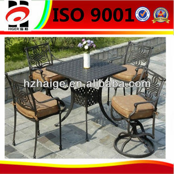 factory for customized aluminum garden antique concrete table and chair