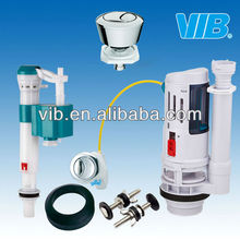 Cistern flushing mechanism for low quality plastic cistern