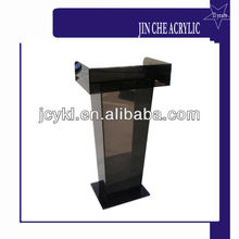 Customized Acrylic Stage Podium, Brown Acrylic Church Podium, Acrylic Podium