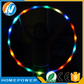 Different design hot selling glowing flexible hula hoop