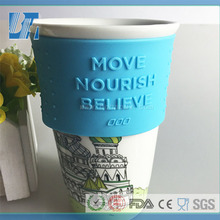 Factory Wholesale Reusable Food-Grade Hest-Resistant Custom Silicone Coffee Cup Sleeve