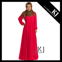 2016 Kyle and Jane 2 layers composite silk Muslimah dress EID KJ-WAB6027