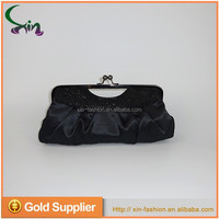 Black promotional OEM customized ladies gift evening party clutch hand bag