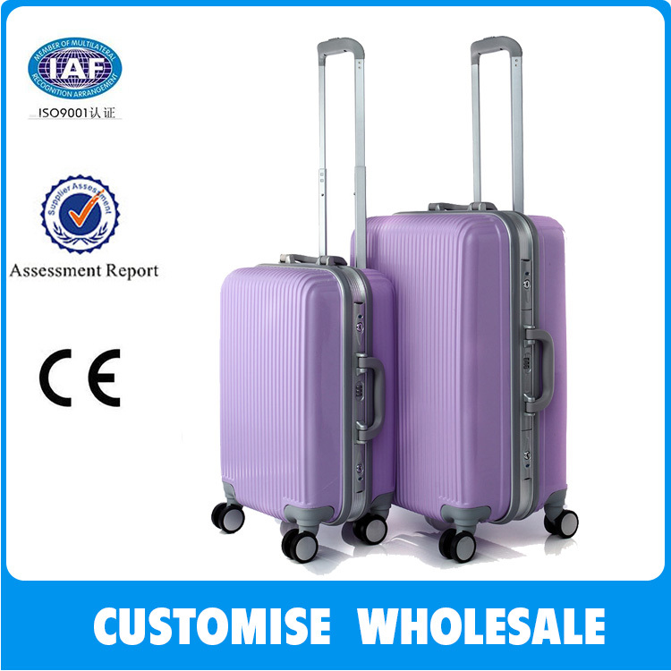 High quality single handle compass luggage trolley bag