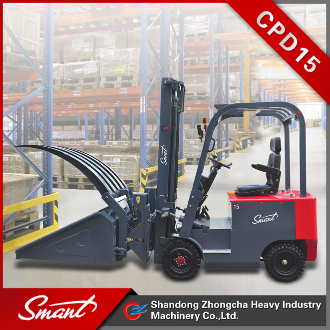 New condition DC Motor Power Souce 1.5 ton battery forklift price