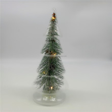 Led lighted glass christmas tree with glass covered,buttery glass christmas decoration