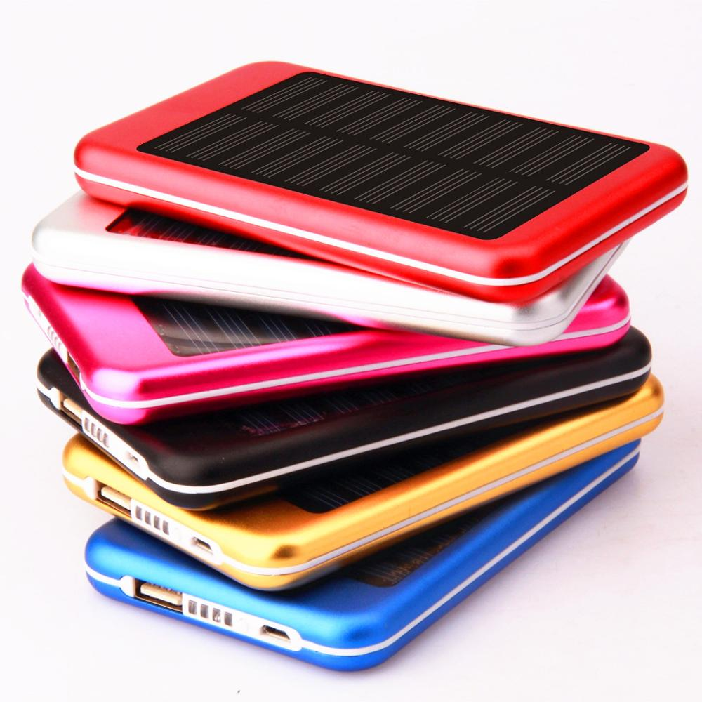 Factory direct ultra-thin large-capacity charging power bank with solar charging function mobile power wholesale