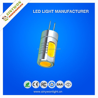 2015 sinywon best price & high lumen socket g4 DC12V COB With CE RoHS SIZE 19*51mm 5W G4 LED Bulb Light