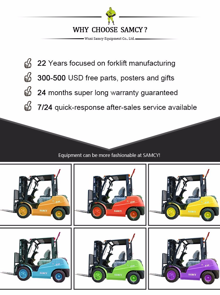 SAMCY Forklift 2 Years Warranty Competitive Price of Forklift
