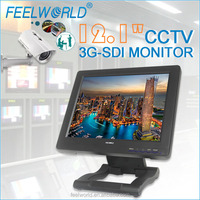 12.1'' CCTV LCD HD Monitor with 3G SDI input and output for camara de seguridad