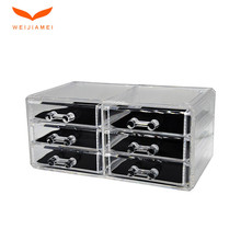 Shenzhen Wholesale Acrylic Plastic Cosmetic Makeup Storage Box