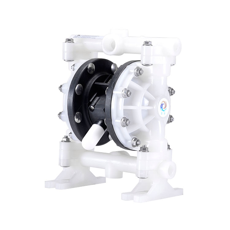 Mini acid proof pneumatic air double diaphragm pump with plastic material