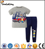 wholesale 2017 new coming summer minions pajamas kids pajamas short sleeve long trousers baby pajamas