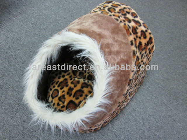 Cat Kitten Cave Bed House Leaopard Style Igloo Sleeping Pet Puppy Dog New