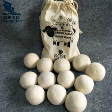 Professional chemical-free detergent dryer wool balls with high quality