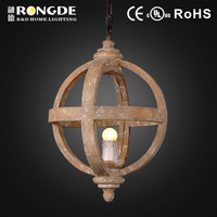 Zhongshan decorative wood modern ball pendant light in coffee house