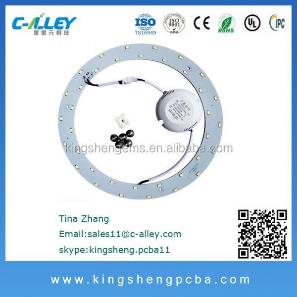 18W LED Circle Light PCB,Round Ceiling board, Circular Aluminum LED Ceiling light PCBA manufacturer
