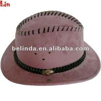 Women fashion light purple cowboy hat