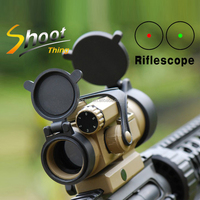 ST 5020+ST5034 1X32 Optics Rifle Scope with Kill Flash Low Mount 5 MOA Red Dot Sight Tactical Riflescope