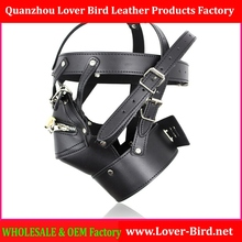 Adult Games Zipper Mouth Latex Faux Leather Sex Mask Sexy Fetish Bondage Mask Hood with Lock Sex Toys for Couples Erotic T