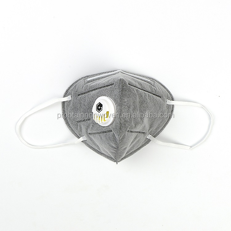 ffp3 active carbon dust mask with valve5layer elastic ear nose clip nose foam