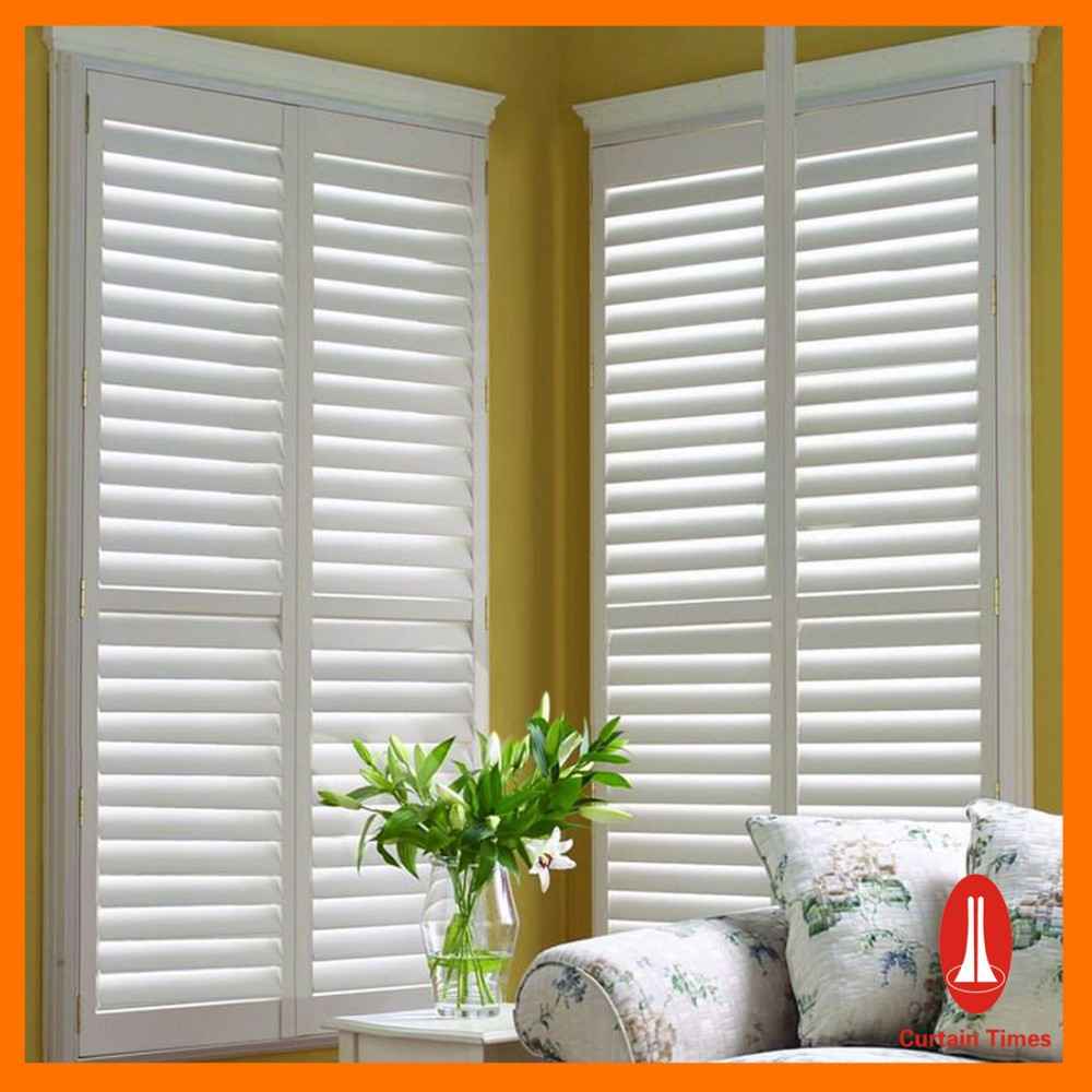 Curtain Times Cheap Interior Pvc Window Shutters Blinds