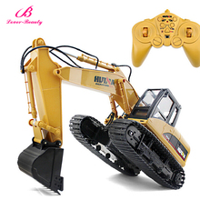 Manufactur 2.4G Wireless Excavator Remote Control Truck Rc Remote Controlled Car Kids Toy