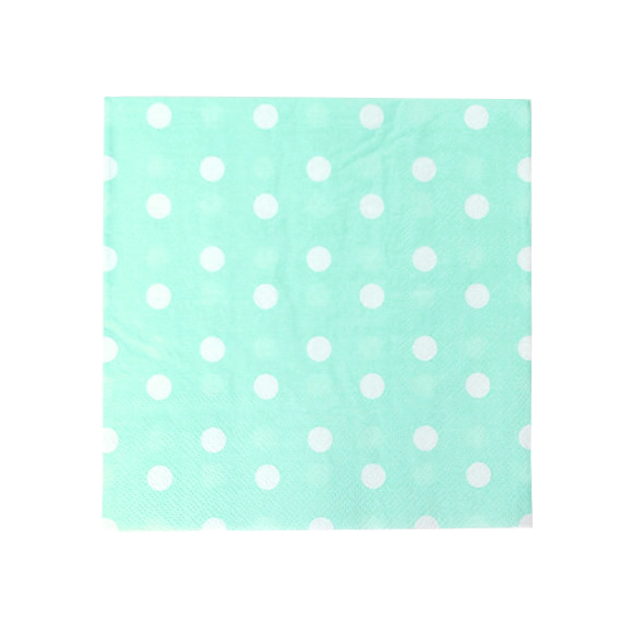 Polka Dot Color Paper Napkin Printed Paper Serviette