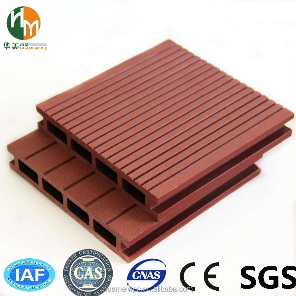 Manufacturer original wood plastic composite decking for Non slip composite decking
