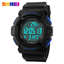 SKMEI 1116 Fashion & Casual Digital Male Sport Digital Wristwatch Multifunction Pedometer Fitness Men's watches