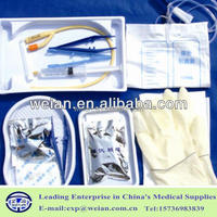 Disposable EO Sterile Silicone Coated Latex Foley Catheter Kit Made in China