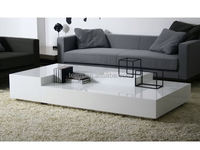 modern elegant high glossy painting combination coffee tables set marble top and metal leg coffee table