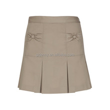 girls bow pocket pleat skirt uniform school girl short skirt