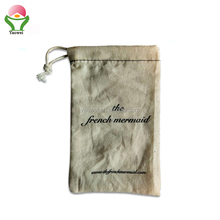 newest fashion cheaper 100g Organic Cotton Drawstring Bags Cotton Picking Bags