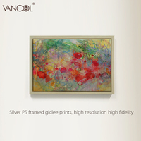 2015 high quality abstract oil painting of flower ocean on canvas