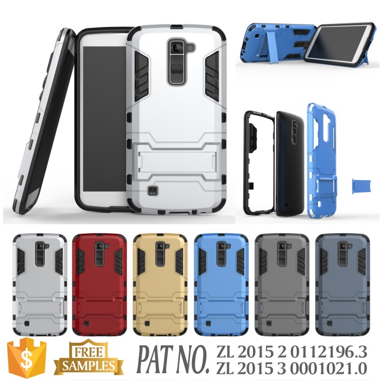 Anti shock kickstand slim armor flip cover case for lg <strong>k10</strong>